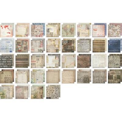 """Idea-Ology Paper Stash Double-Sided Paper Pad 8/""""X8/"""" 36//Pkg Etcete 040861935516"""