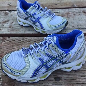 Asics-Gel-Nimbus-12-Running-Cross-Training-Shoes-Womens-Size-7-T095N-White-Blue