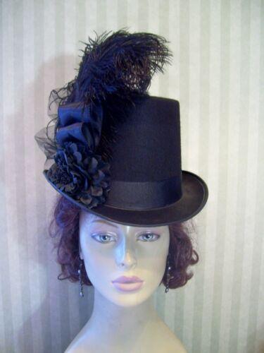 Women's Vintage Hats | Old Fashioned Hats | Retro Hats   Kentucky Derby Black Top Hat Steampunk Hat Civil War Halloween Hat Dickens $45.99 AT vintagedancer.com
