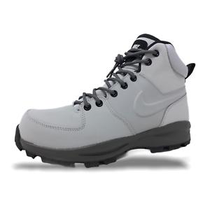 Nike-Manoa-Leather-Mens-Boots-Wolf-Grey-Thunder-Grey-Black-454350-004-NEW