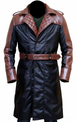 uomo Jacob Creed Trench pelle in Frye da Syndicate Assassin's costume nxfCp