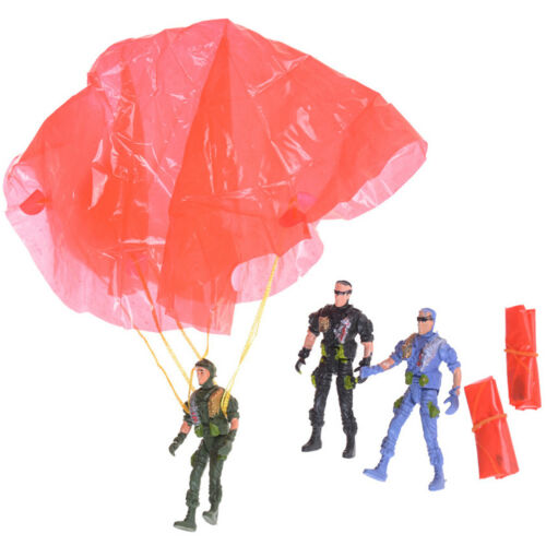 1pc 9cm Paratroopers Parachute Soldiers Miniatures Military Figures Model Toy XR