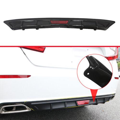 For 2018 2019 Honda Accord Rear Bumper Diffuser Lip Garnish Body Kit Gloss Black