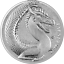 miniature 1 - Germania Beasts Fafnir 2020 Silber 1 OZ Unze Silver 5 Mark Drache Nibelungen