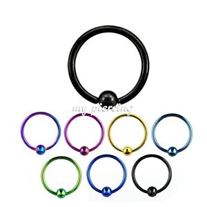 2 Stk Mixed Items & Lots 18g ~ 0.8cm Titan Anodisiert 316l Ball Closure Ring Ohren Nase Tragus An Indispensable Sovereign Remedy For Home