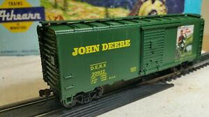 HO-Athearn-John-Deere-40-039-BOX-CAR-RTR-series-metal-wheels-for-train-set-NIB