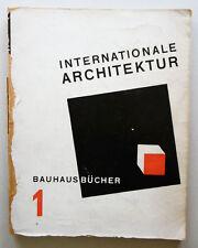 Walter Gropius Internationale Architektur Bauhausbücher 1 München 1925 Bauhaus