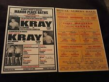 THE KRAY TWINS BOXING POSTERS. RONNIE & REGGIE KRAY. LEGEND. GANGSTERS. CRIME.