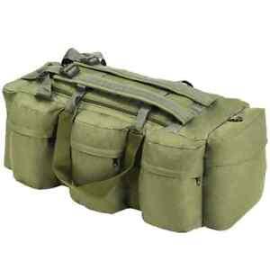 vidaXL Borsone da Viaggio Stile Militare 3 in 1 120 L Verde Oliva Borsa Zaino