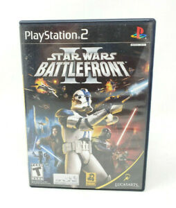 Star-Wars-Battlefront-II-2-Sony-PlayStation-2-PS2-Game-Black-Label-Complete-CIB