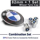 Fit E39 E46 E60 E38 X5 BMW Badge Emblem Bonnet Logo Hood Wheel Tire Tyre Cap Set