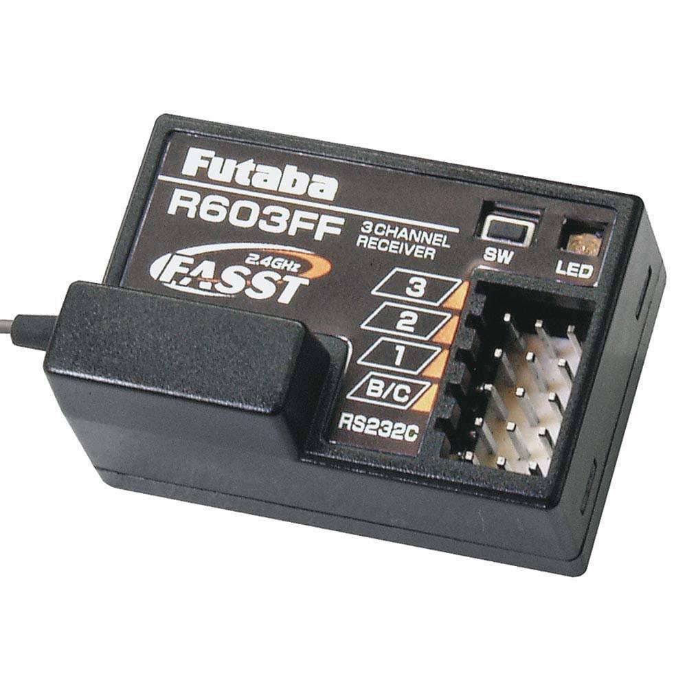 Futaba R603FF 3-Channel FASST Receiver 3PM/3PK/4PK FUTL7631