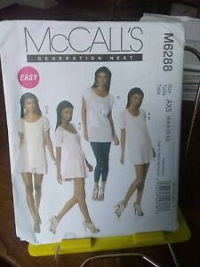 Mccalls-Easy-Generation-Next-6288-misses-stretch-knit-top-dress-sz-4-12-NEW