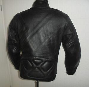 vintage-Motorradjacke-Bikerjacke-90s-Leder-Biker-90er-oldschool-rocker-M-50