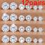 12-Pairs-Women-Rhinestone-Crystal-Pearl-Earrings-Set-Women-Ear-Stud-Jewelry thumbnail 12
