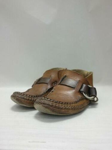 ARROW MOCCASIN  Leather Brown Boots From Japan 235