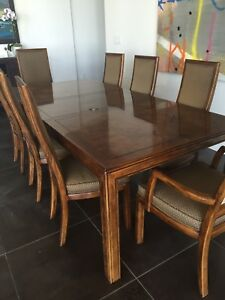 Details about Classic Parsons style Henredon Dining Table and Chairs