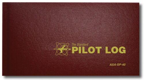 BurgundyASA-SP-40Pilot Logbook ASA Standard Pilot Log NEW