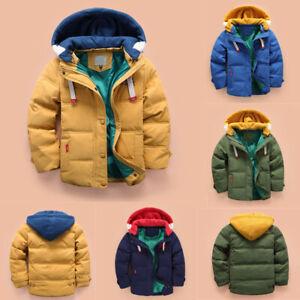 Kleinkind Jungen Herbst Winter Parka Jacke Mantel Outdoor Wasserabweisend blau