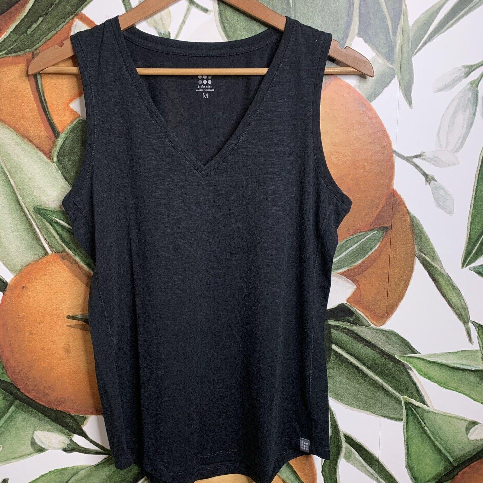 Title Nine Women's M Medium Matahari Sleeveless Tank Top Shirt Black NWOT RT