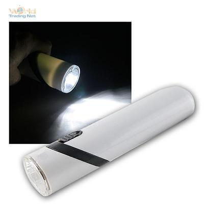 Akku-LED-Taschenlampe, 3 LEDs, Kopf 90° schwenkbar, Handlampe wiederaufladbar