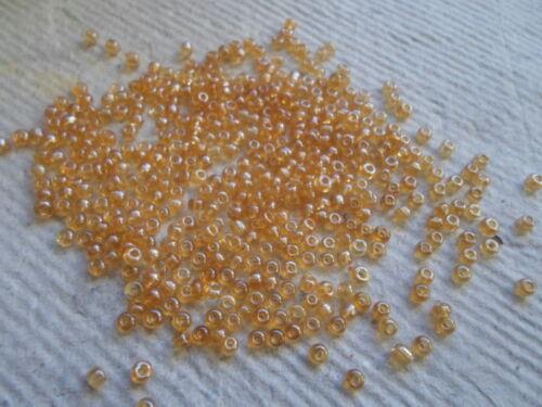 Semilla cuentas ~ Arcoiris ~ Golden Rod ~ Talla 8 ~ 75 gramos #162B