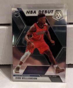 2019-20 Panini Mosaic Zion Williamson NBA Debut Base 269 ROOKIE RC Pelicans