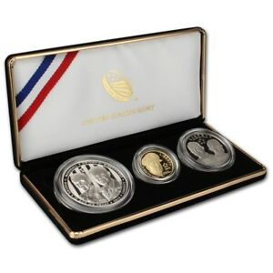 2013-5-Star-Generals-Commemorative-3-Coin-Proof-Set-w-Box-amp-COA