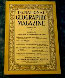 National Geographic Magazine January 1925 - Ancient South American Pyramids