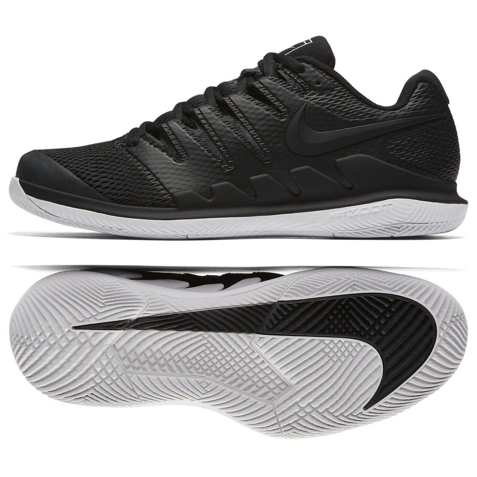 Nike Air Zoom Vapor X HC AA8030-010 nero Vast grigio grigio grigio Men's Tennis scarpe Sz 8.5 913315