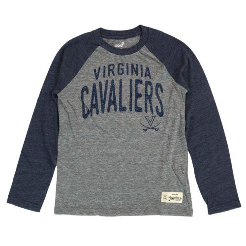 "Virginia Cavaliers NCAA Youth Grey /""Pedigree/"" Tri-Blend Long Sleeve T-Shirt"