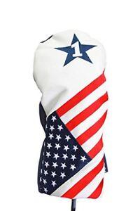 USA-patriot-Golf-vintage-retro-conducteur-un-Couvre-Bois-Tete-Housse-pour-460cc-Drivers