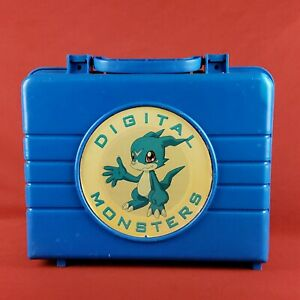 Rare-Vintage-Digimon-Digital-Monsters-Carrying-Case-for-Cards-and-Figures