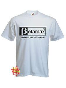 BETAMAX-retro-70s-drole-T-Shirt-toutes-les-tailles