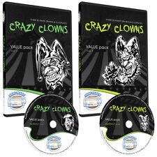 CLOWNS CLIPART COLLECTION -VINYL CUTTER PLOTTER IMAGES -EPS VECTOR CLIP ART CD
