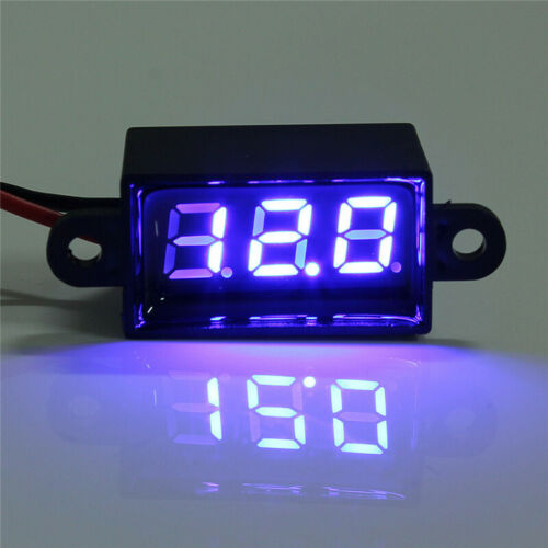 Voltmeter Mini Digital LED Waterproof 12V Car Moto Range Dc 3.50-30.0V Ammeter