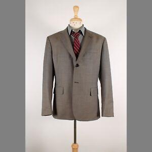 Banana-Republic-42S-Brown-Solid-Wool-Blend-2B-Sport-Coat-Blazer-Suit-Jacket-70-5