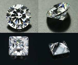 4 PCS AAAAA CZ Cubic Zirconia Clear Round/Square Jewelry Making Earring Findings