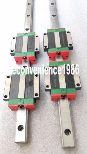 2 sets HGR15-300mm Hiwin Liner rail /& 4 pcs HGW15CC Block Bearing