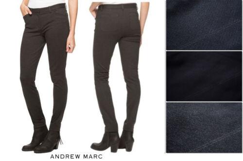 NWT ANDREW MARC dress Slacks Tapper Ponte Stretch Pants BLACK CHARCOAL 4 6 8 10