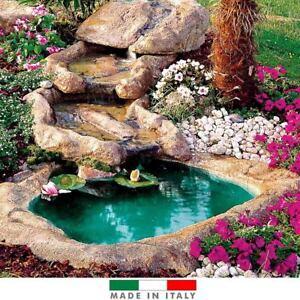 Cascata roccia per laghetti vetroresina colore pietra con for Laghetti in vetroresina usati