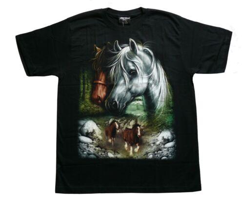 T-Shirt Pferde Wildbach,Gr M L XL Western Pferd Reiten Indianer Cowboy Reiter