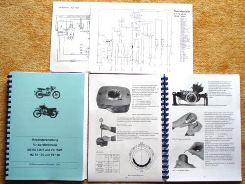 Reparaturhandbuch Reparaturanleitung MZ Motorräder TS 125 150 ES 125//1 150//1