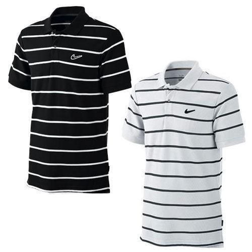 43b894ba Nike Mens Black White Striped Small Size Cotton Polo Shirt Golf Sports Top  Tee for sale online | eBay