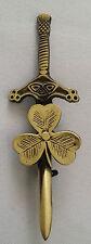 "Celtic Sword Kilt Pin Irish Shamrock Antique Finish 4""/Thistle Hilt Sword Pins"