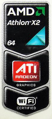 AMD 64 ATHLON  X2 STICKER LOGO AUFKLEBER 18x44mm (378)