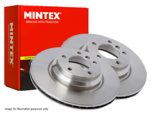 FRONT FREE NEXT DAY DELIVERY - MDC1752 2X DISCS BRAKE DISCS NEW MINTEX