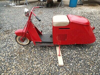 Antique Vintage Cushman Model Scooter Over The Top