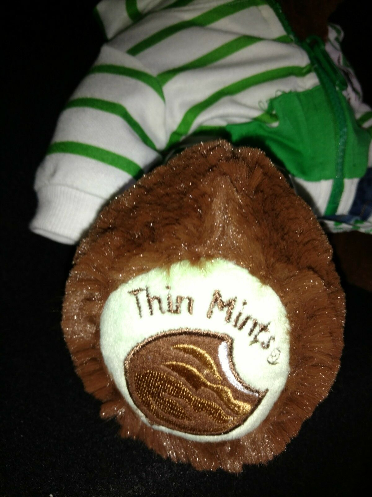 Build A Bear Girl Scout Cookie Thin Mints Bear Plush Plush Plush Outfit Hoodie Denim Skirt 52e8f2