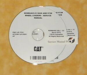 Kenr6465 Cat Caterpillar 966k 972k Wheel Loader Service Manual Cd Pbg Tfs Z4w Ebay